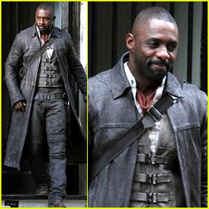 Idris Elba Spotted as The Gunslinger on 'Dark Tower' NYC Set!