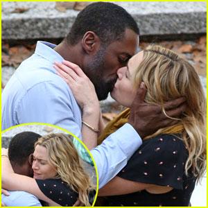 Idris Elba & Kate Winslet Kiss on 'Mountain Between Us' Set