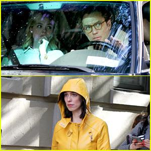 Elle Fanning, Jude Law, & Rebecca Hall Film Woody Allen Movie in NYC