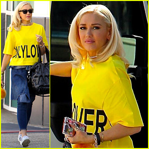 Gwen Stefani Goes Bright in Yellow to Kick Off Her Week
