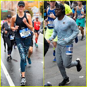 Karlie Kloss & Kevin Hart Run the New York City Marathon 2017!