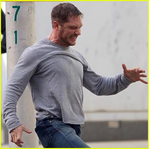 Tom Hardy Battles for Control of His Body in New 'Venom' Scene