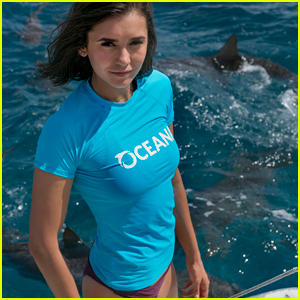 Nina Dobrev Swims With Sharks For a Good Cause - Watch Now!