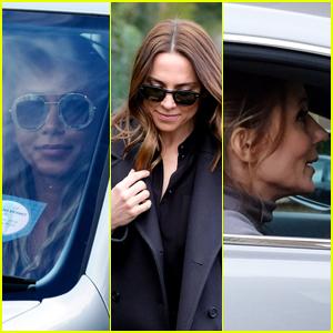 Victoria Beckham, Emma Bunton, Mel B & Melanie C Arrive at Geri Halliwell's House for Spice Girls Reunion Meeting!
