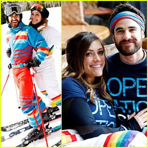 Darren Criss & Mia Swier Hit the Slopes for Operation Smile's Park City Ski Challenge