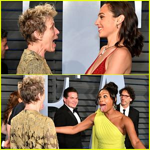 Tiffany Haddish & Gal Gadot Hug It Out with Frances McDormand at Oscars After Party!