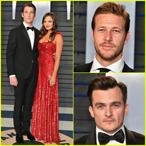 Miles Teller & Fiancee Keleigh Sperry Are Picture Perfect at Oscars 2018 Party