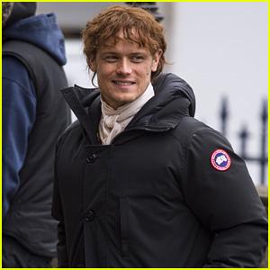 Sam Heughan Seen on 'Outlander' Season Four Set in New Photos!