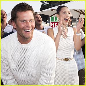 Tom Brady Throws Footballs in Monaco with Bella Hadid!