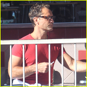 Jude Law Steps Out on Coffee Run in Beverly Hills