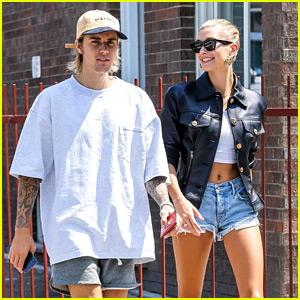 Justin Bieber & Hailey Baldwin Kick Off Weekend with Brunch