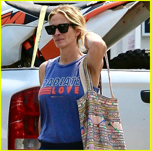 Julia Roberts Radiates Love While Running Errands in Malibu