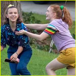 'Stranger Things' Kids Goof Off on Set In Between Scenes!