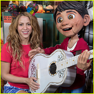 Shakira Takes a Trip to Disneyland & Meets Miguel from 'Coco'