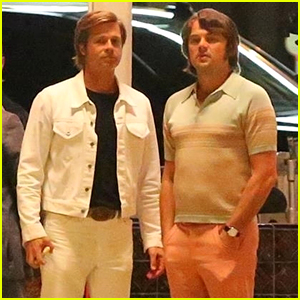 Brad Pitt & Leonardo DiCaprio Are Back on Set Together