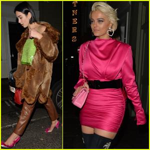 Dua Lipa & Bebe Rexha Have a Night Out in London!