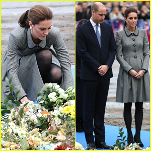 Duchess Kate Middleton & Prince William Pay Respects to Helicopter Crash Victims