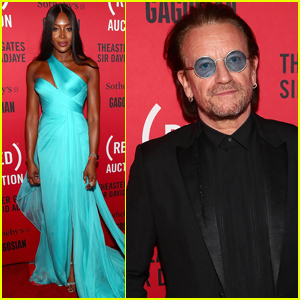 Naomi Campbell Joins Bono at (RED) Auction Event in Miami