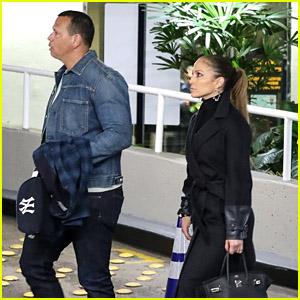 Jennifer Lopez & Alex Rodriguez Head Out After a Business Meeting