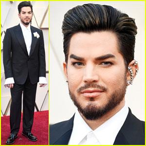 Adam Lambert Hits Oscars 2019 Red Carpet Before Performance With Queen 2019 Oscars Adam Lambert Oscars Just Jared
