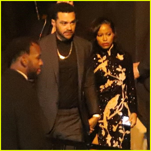 Jesse Williams & New Girlfriend Taylour Paige Couple Up For Oscars After Parties