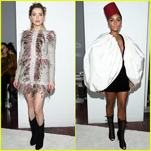 Amber Heard & Janelle Monae Buddy Up at Giambattista Valli Paris Fashion Show!