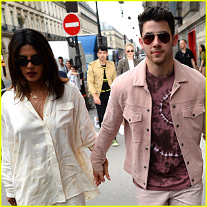 Nick Jonas & Priyanka Chopra Grab Dinner in Paris with Joe Jonas & Sophie Turner