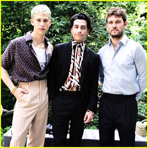 Tommy Dorfman, Alex Pettyfer & Rob Raco Step Out For Fendi Fashion Show in Milan