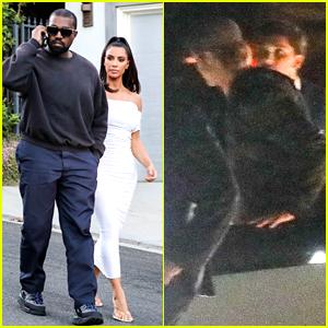 Kim Kardashian & Kanye West Attend Same Private Party as Brad Pitt & More Stars!