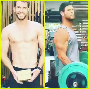 Liam Hemsworth Goes Shirtless, Bares Six-Pack While Working Out with Chris Hemsworth - Watch!