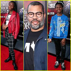 Jordan Peele & 'Us' Stars Check Out the Film's Maze at Universal Studios' Halloween Horror Nights Opening!