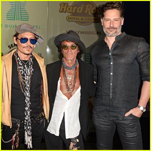 Johnny Depp & Joe Manganiello Buddy Up at Seminole Hard Rock's Guitar Hotel Grand Opening!