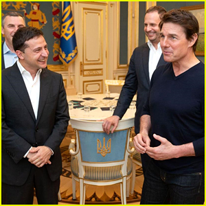 Tom Cruise Meets with Ukranian President Volodymyr Zelensky Amid Trump Impeachment Inquiry