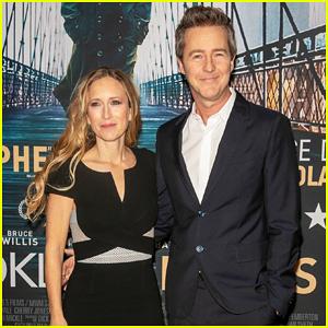 Edward Norton Brings 'Motherless Brooklyn' To Paris with Wife Shauna Robertson!