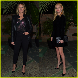 Robin Wright & Kate Bosworth Attend Saint Laurent Pre-Golden Globes Party