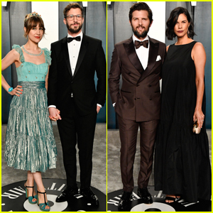 Andy Samberg & Adam Scott are Joined By Their Wives at Vanity Fair Oscar Party 2020