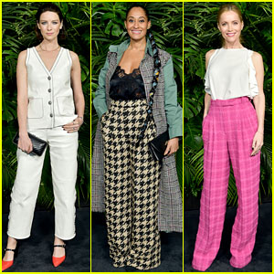 Caitriona Balfe, Tracee Ellis Ross, & More Step Out for Chanel's Pre-Oscar Dinner!