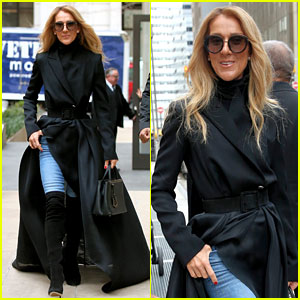 Celine Dion Makes the Sidewalk Her Runway with Latest Look!
