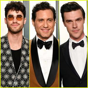 Darren Criss & 'Versace' Co-Stars Edgar Ramirez & Finn Wittrock Attend Vanity Fair Oscar Party 2020