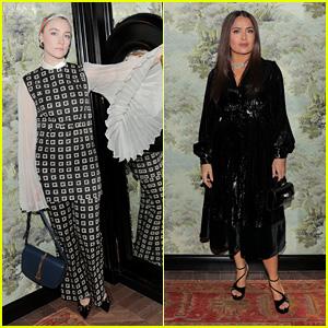Saoirse Ronan & Salma Hayek Celebrate Opening of Gucci & Chef Massimo Bottura's First US Restaurant!