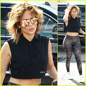 Jennifer Lopez Shows Off Her Shorter Hair Style While Heading to the Gym in Miami