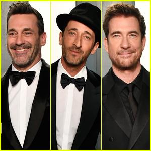 Jon Hamm, Adrien Brody, & Dylan McDermott Show Off Their Suave Side at Vanity Fair Oscar Party 2020