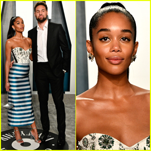 Laura Harrier & Boyfriend Klay Thompson Make Rare Appearance at Oscars 2020 Party!