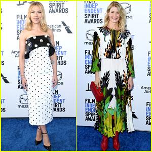 Scarlett Johansson & Laura Dern Support 'Marriage Story' at Spirit Awards 2020