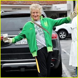 Rod Stewart Shows Off His Gloves on Starbucks Run Amid Coronavirus Crisis