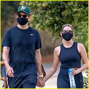 New Couple Ashley Benson & G-Eazy Hold Hands While Hiking in the Hills