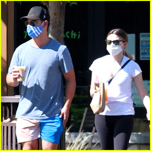 Taylor Lautner & Girlfriend Tay Dome Support Local Business & Step Out For At Lunch Together