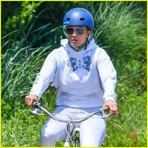 Jennifer Lopez Goes for a Bike Ride in The Hamptons