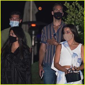 Kourtney Kardashian Wears Her Pajamas to Malibu Dinner With Friends