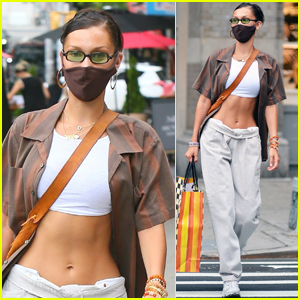 Bella Hadid Shows Off Her Abs While Shopping in NYC